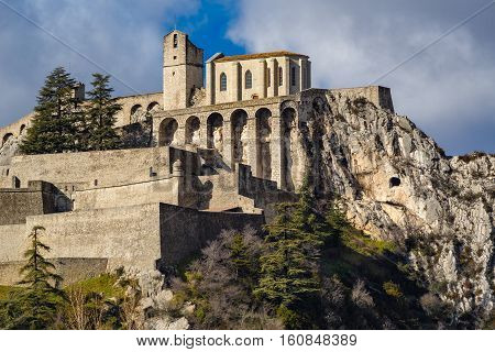 Citadel of Sisteron and its fortifications. Alpes de Haute Provence Southern Alps France