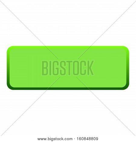 Green button icon. Flat illustration of green button vector icon for web