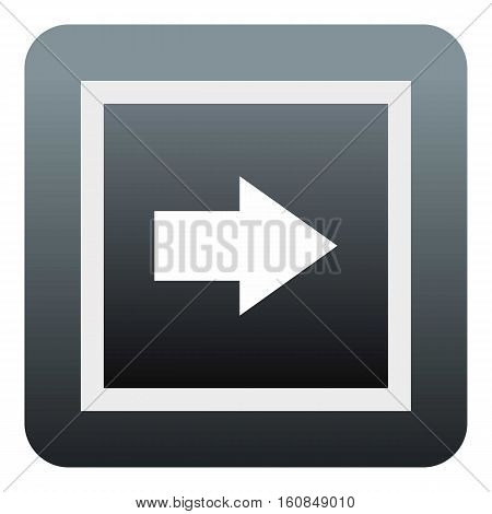 Gray button icon. Flat illustration of gray button vector icon for web