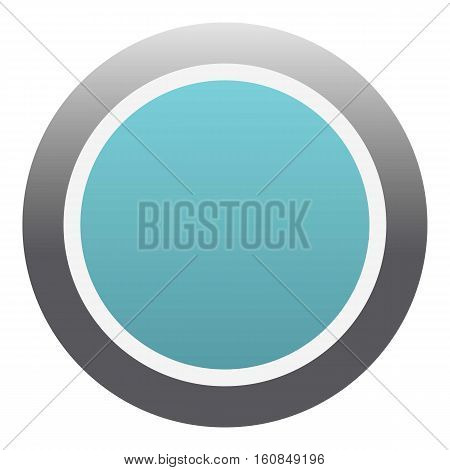 Blue round button icon. Flat illustration of blue round button vector icon for web