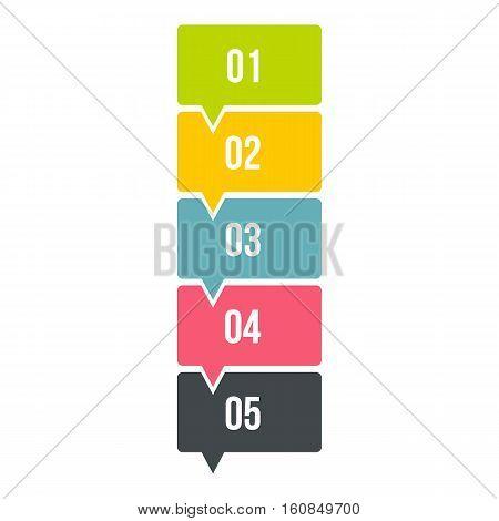 High scheme infographics. Flat illustration of high scheme vector infographics for web
