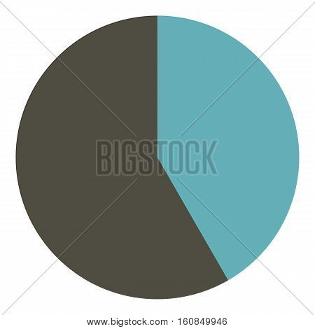 Round gray diagram infographics. Flat illustration of round gray diagram vector infographics for web