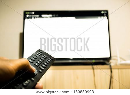 turn on, turn off television by remote control