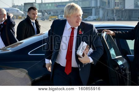 Belgrade, Serbia. November 11Th 2016 - Boris Johnson, Secretary Of State For Foreign And Commonwealt
