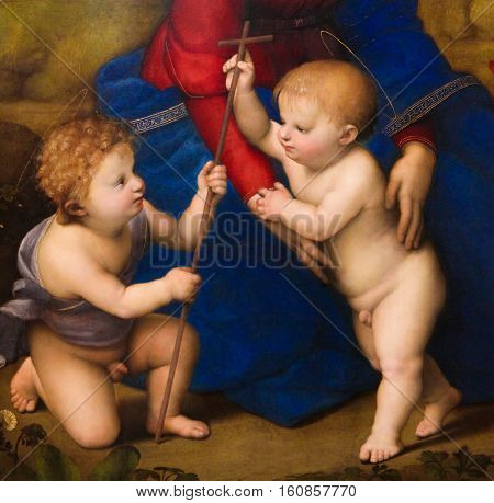 Two Angels - Painting By Raphael