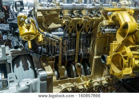 modern car engine section