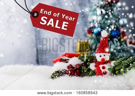 Christmas decoration and End of Year sale