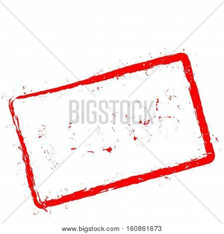 Lough Red Rubber Stamp Isolated On White Background. Grunge Rectangular Seal With Text, Ink Texture