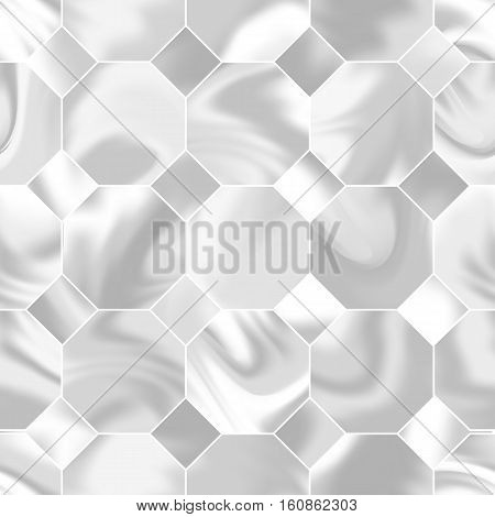 Seamless holographic pattern. The geometric shape. Modern trendy design for cards, posters, book covers, brochures, web banners. Grey and white colors. Abstract vector illustration.