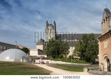 Baptistere Saint-Jean ( Baptistery of St. John ) Poitiers France. Oldest church in France and church of St Peter