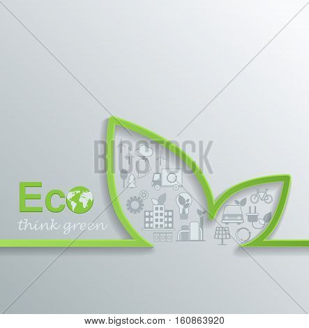 Creative eco concept design Flat design Vector.