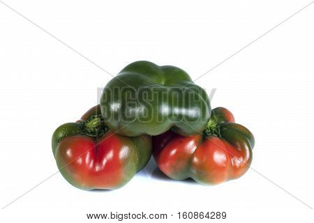 bulgarian pepper isolate on white background, isolated objects