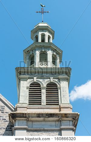 Church Steeple in Quebec City Quebec Canada
