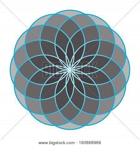 Flower of Life. Sacred Geometry. Symbol of Harmony and Balance. Vector Illustration.