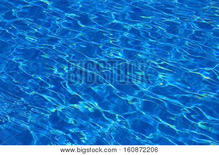waves on the surface of the water in the pool
