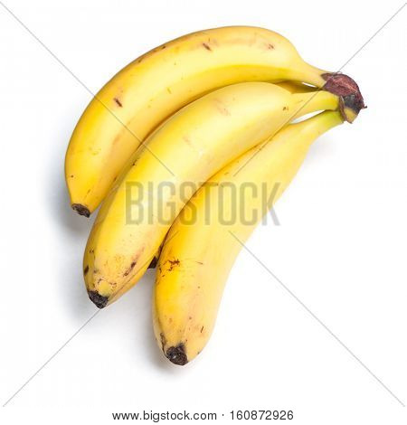 Rotten bananas isolated on white background