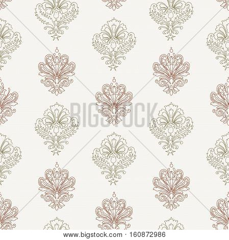 Vector pattern of the vintage decorative elements.