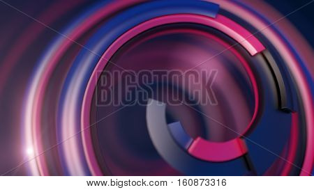 Colorful 3d spiral abstract digital illustration background pattern 3d rendering
