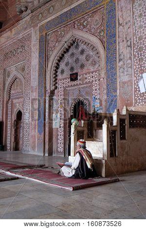 FATEHPUR SIKRI, INDIA - FEBRUARY 15 : Jama Masjid Mosque in Fatehpur Sikri complex, Uttar Pradesh, India on February 15, 2016.