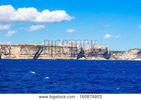 View of beautiful city of Bonifacio, Corsica, France