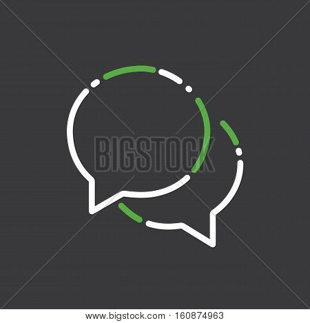 Chat message web online symbol icon logo vector stock