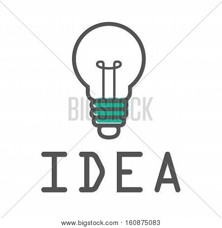Idea bulb light design logo icon vector stock
