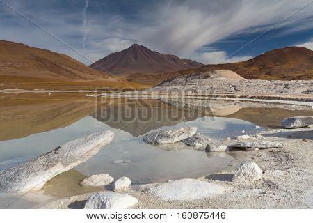 Lake of Pierdras Rojas Atacama desert Chile