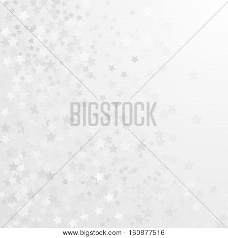 white and gray background with stars - vector illustration