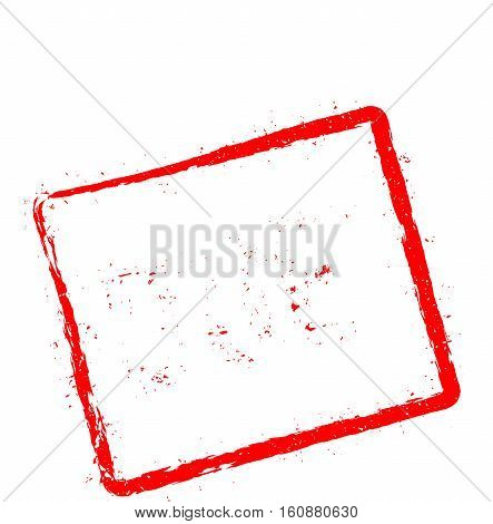 Due Red Rubber Stamp Isolated On White Background. Grunge Rectangular Seal With Text, Ink Texture An