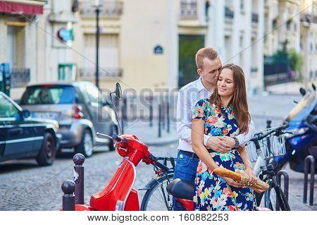 Romantic Couple On Montmartre