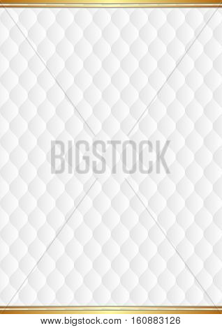 white background with decorative pattern - vector illustration