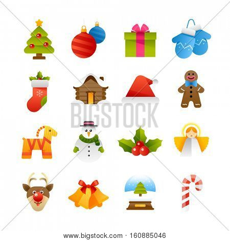 Set of various Christmas and winter vector icons