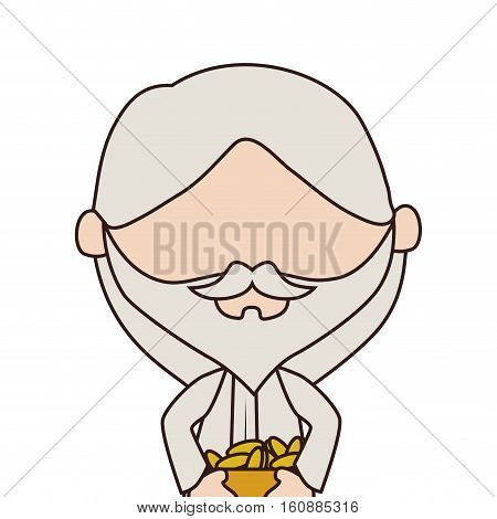 man manger character isolated icon vector illustration design