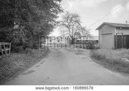 A view of american's neighborhood farm countryside sunnyday