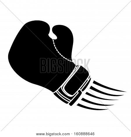 silhouette of boxing glove icon over white background. sport equipment concept. vector illustration
