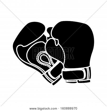 boxing gloves icon. sport equipment concept. over white background. vector illustration