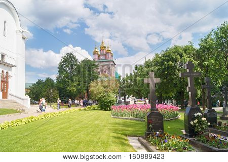 Sergiev Posad, Russia - 28 May, The old burial dignitaries, 28 May, 2016. Tourist places, monasteries and cathedrals in Sergiev Posad.