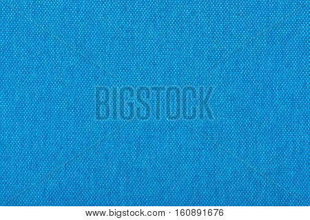 Natural linen fabric for embroidery. Blue color