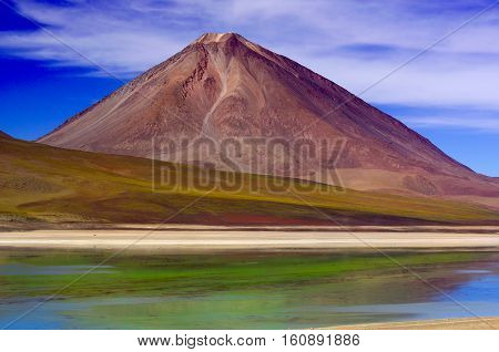 Laguna Verde lies high on the Bolivian Altiplano.