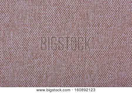 Natural linen fabric for embroidery. Beige, brown color