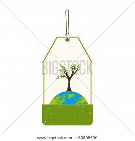 save the world planet ecology vector illustration design