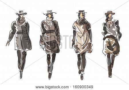 Sketch Fashion Women - clothes for cold days