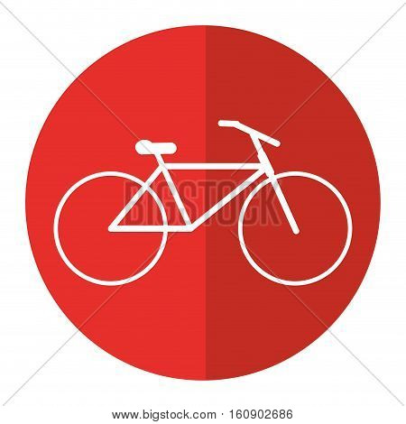 bicycle transport active sport red circle vector illustration eps 10