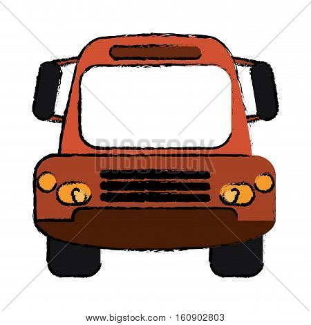 drawing bus public transport city front view vector illustration eps 10