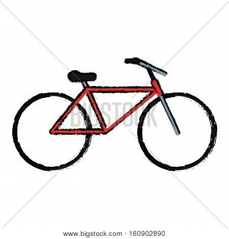 drawing bicycle transport active sport vector illustration eps 10