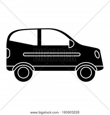 silhouette hatchback car vehicle side view vector illustration eps 10