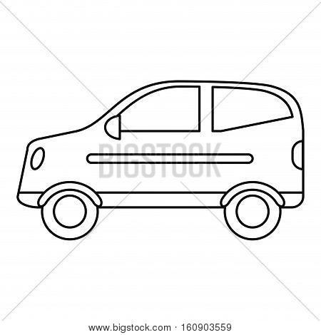hatchback car vehicle side view outline vector illustration eps 10