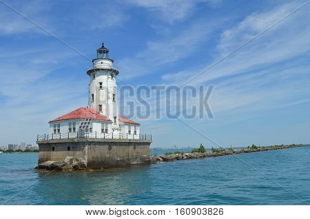 This lighthouse picture was taken while on a boat tour of Chicago Illinois.