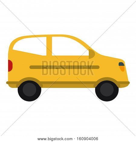 yellow hatchback car vehicle side view vector illustration eps 10