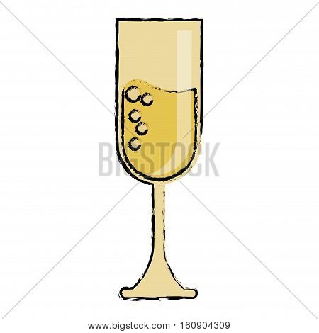 cartoon cup glass champagne love celebration vector illustration eps 10